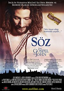 Söz Filmi (The Gospel of John) afişi.