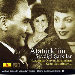 Atatürk kedvenc dalai CD - Forrás: wikipédia