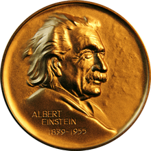 Albert Einstein World Award of Science Medal.png