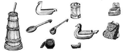 формы, предметы быта русского народа в картинках нарисовать поленозимой холодно зябко