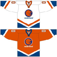 Netherlands national ice hockey team Home & Away Jerseys.png