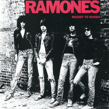 Обкладинка альбому «Rocket to Russia» (The Ramones, 1977)