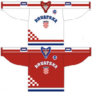 Croatia national ice hockey team Home & Away Jerseys.png