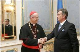 Бертоне з президентом Ющенком