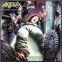 Обкладинка альбому «Spreading the Disease» (Anthrax, 1985)
