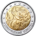 €2 commemorative coin Italy 2005.png