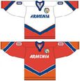Armenia national ice hockey team Home & Away Jerseys.png
