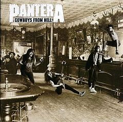 Обкладинка альбому «Cowboys from Hell» (Pantera, 1990)