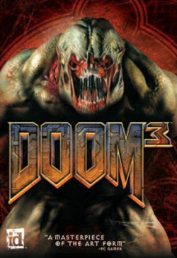 The box art for Doom 3