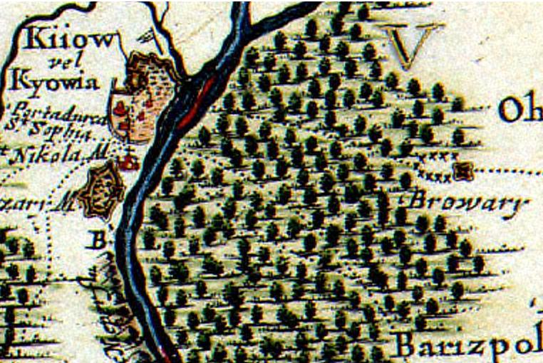 Бровари на карті Covens   Mortier (середина XVII століття) a8b3c4d6b7fa2