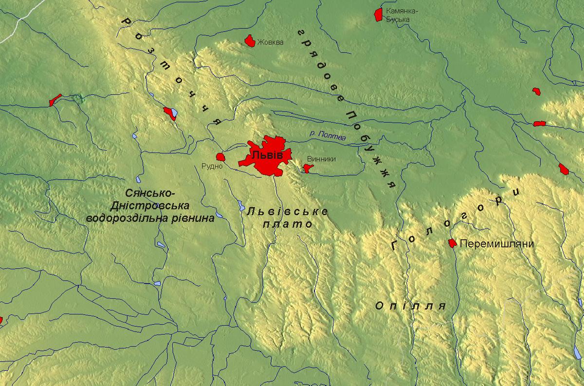 Мапа історичних місць Львова