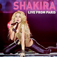 Обкладинка альбому «Live from Paris» (Шакіри, 2011)