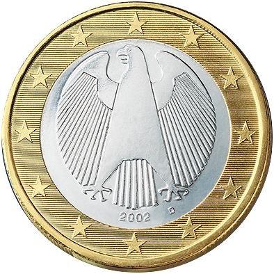1 Євро аверс Німеччина