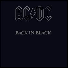 Обкладинка альбому «Back in Black» (AC/DC, 1980)