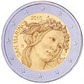 €2 Commemorative coin San Marino 2010.jpg