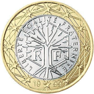 1 Євро аверс Франція