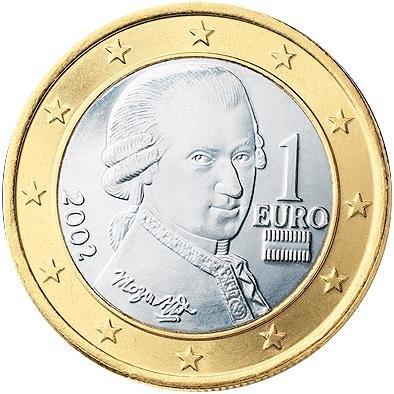 1 Євро аверс Австрія