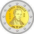 €2 commemorative coin Belgium 2009.jpg