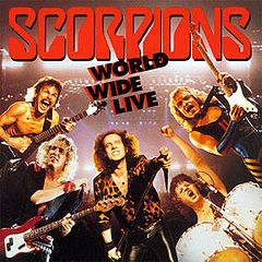 Обкладинка альбому «World Wide Live» (Scorpions, 1985)