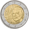 €2 commemorative coin Luxembourg 2007.jpg