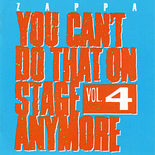 Обкладинка альбому «You Can't Do That on Stage Anymore, Vol. 4» (Frank Zappa, 1991)
