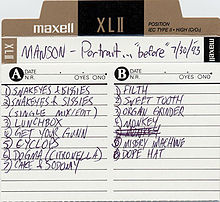 Обкладинка альбому «The Manson Family Album» (Marilyn Manson, 1993)