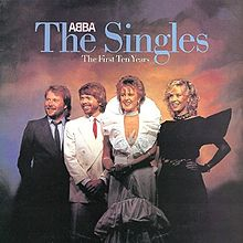 Обкладинка альбому «The Singles: The First Ten Years» (ABBA, 1982)