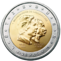 €2 commemorative coin Luxembourg 2005.png