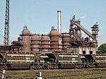 Blast furnace in Dnipropetrovsk Ironwerks.jpg