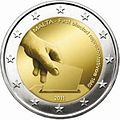 €2 Commemorative coin Malta 2011.jpg