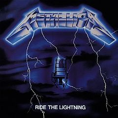 Обкладинка альбому «Ride the Lightning» (Metallica, 1984)