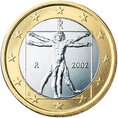 1 Євро аверс Італія