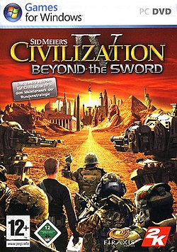 Обкладинка доповнення Sid Meier's Civilization IV Beyond the Sword.jpg