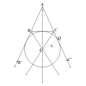 Escribed Circle of a Triangle1.png