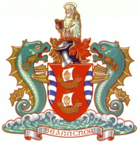 Coat of arms of Bangor, County Down.png