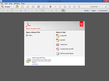 Adobe Acrobat 11 main window in Windows 8.PNG