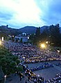 Candlelight Virgil in Lourdes, France, 2013.jpg