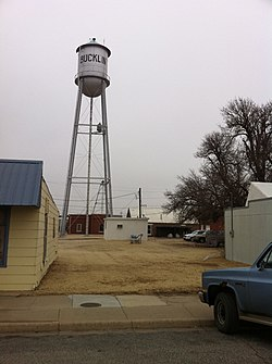 Water tower in Bucklin (2011)