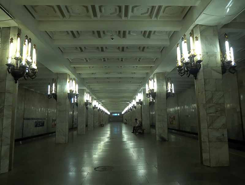 Станция метро Пушкинская в Ташкенте