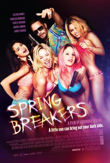 Theatrical release poster depicting four women in bikinis, with a man standing behind them.