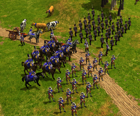 A German army in Age of Empires III: the Napoleonic era