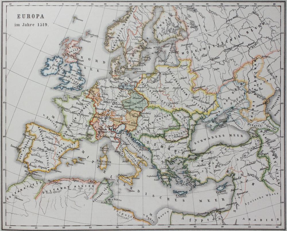 16 Century Europe Map Casami