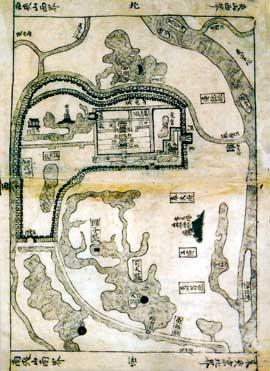 Bản đồ Hoàng thành Thăng Long thời Hồng Đức (1490)