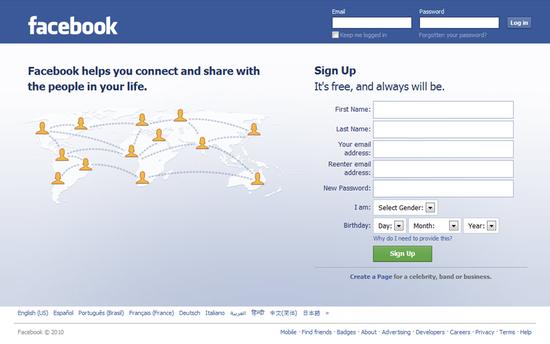 c facebook login