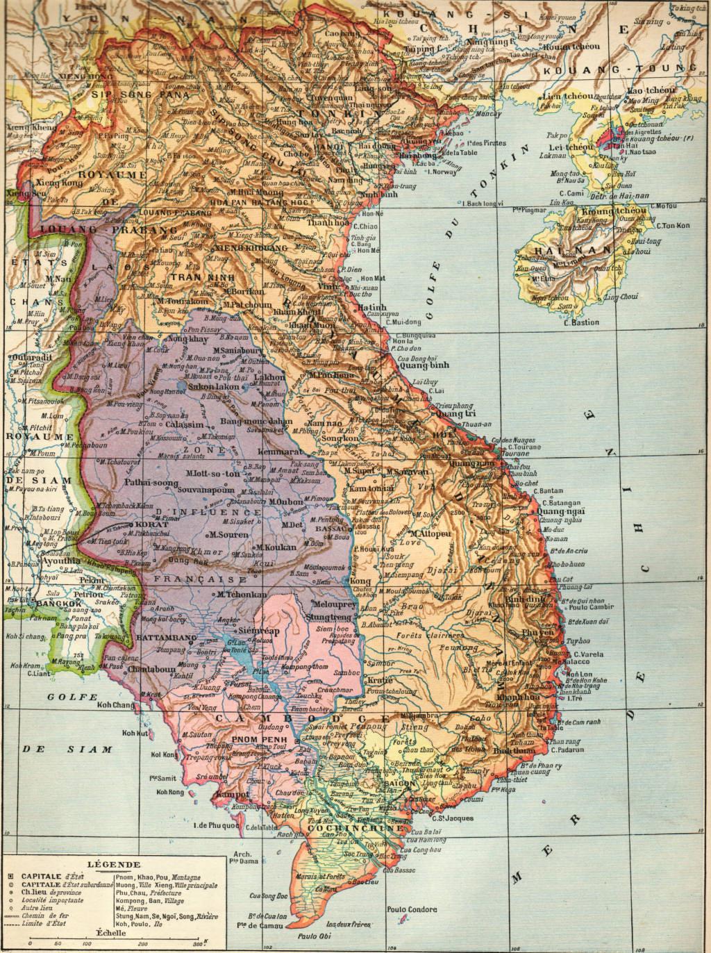 Kết quả hình ảnh cho bản đồ Việt Nam thời kỳ pháp thuộc