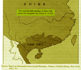 Bản đồ nước Nam Việt của Triệu Đà