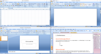 Giao diện Microsoft Office 2007