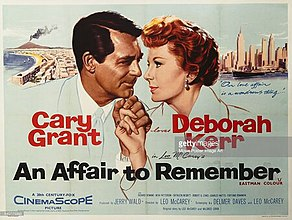 A poster for Leo McCarey's 1957 drama An-Affair-to-Remember.jpg
