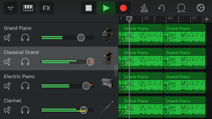 GarageBand for iOS trên iPhone