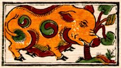tranh lợn âm dương - làng tranh Đông Hồ